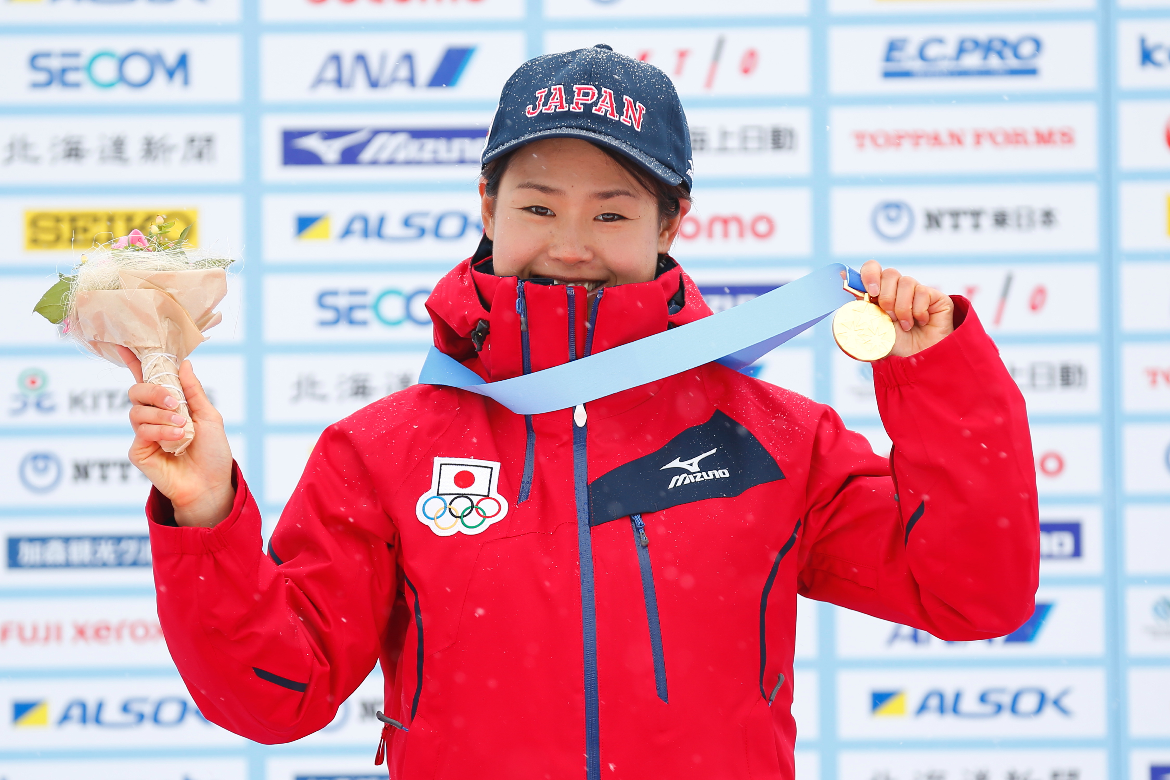 ¬—Ñ—R‹M/Yuki Kobayashi (JPN),  FEBRUARY 23, 2017 - Cross Country Skiing :  Women's 5km Classical Medal Ceremony  during the 2017 Sapporo Asian Winter Games  at Shirahatayama Open Stadium in Hokkaido, Japan. (Photo by Yohei Osada/AFLO SPORT)