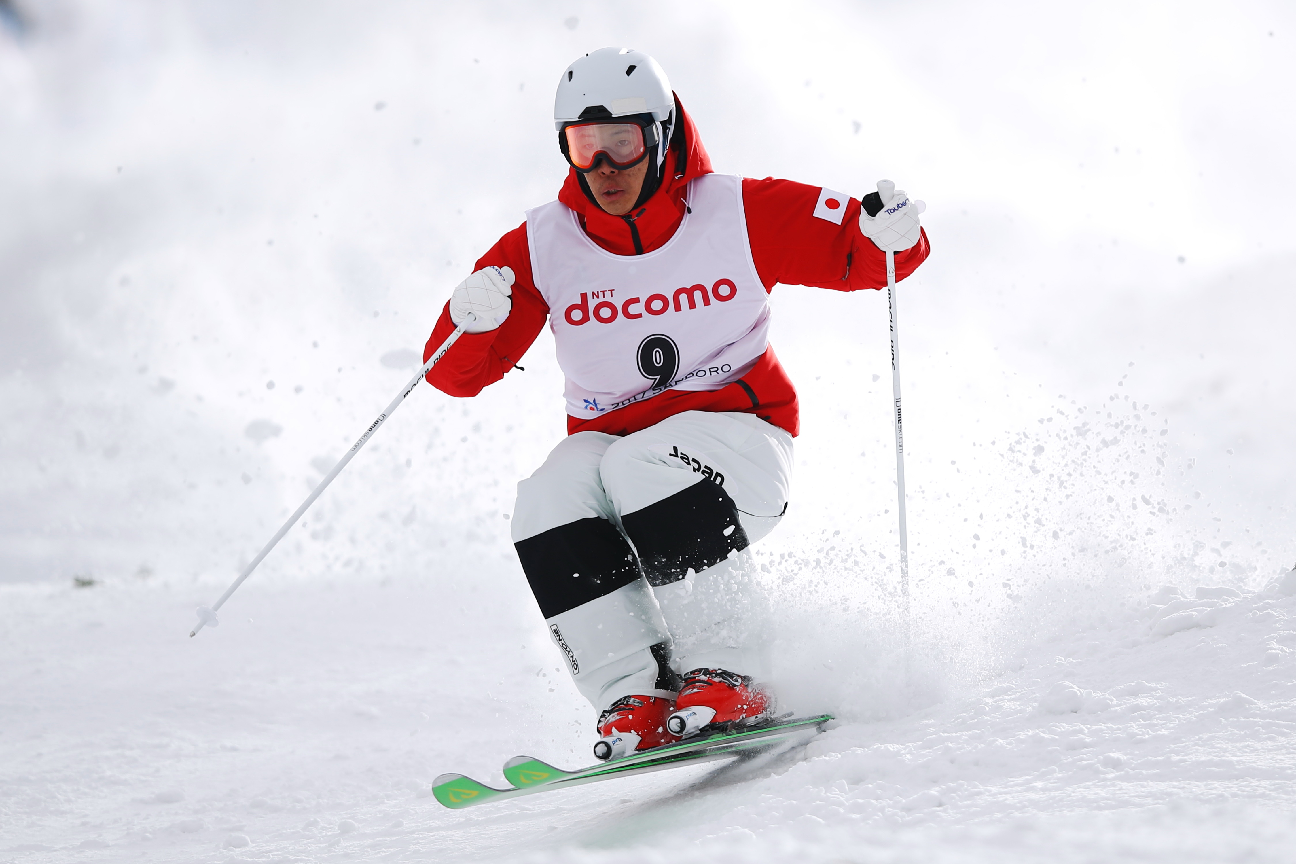 "–x""‡s^/Ikuma Horishima (JPN),  FEBRUARY 24, 2017 - Freestyle Skiing :  men's Dual Moguls Final  during the 2017 Sapporo Asian Winter Games  at Bankei Ski Park in Hokkaido, Japan.  (Photo by Sho Tamura/AFLO SPORT)"