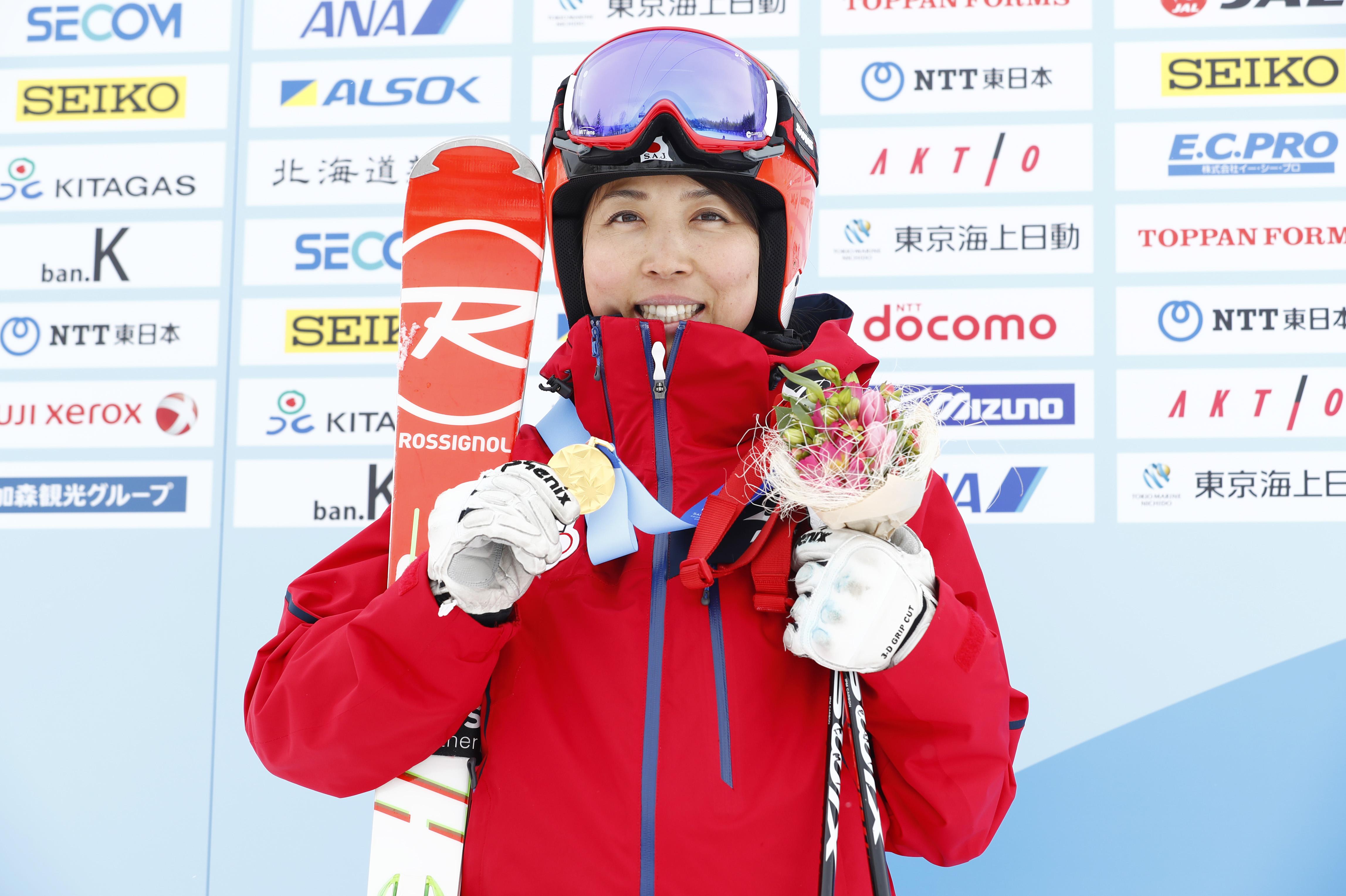 "'·'JìŠG""ü/Emi Hasegawa (JPN),  FEBRUARY 23, 2017 :  Women's Giant Slalom Medal ceremony  during the 2017 Sapporo Asian Winter Games  at Sapporo Teine in Hokkaido, Japan.  (Photo by Yohei Osada/AFLO SPORT)"