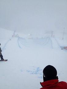 濃霧でタイムスケジュールの変更が度重なった