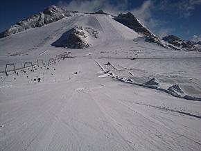 ヒンタートックスのスノーボードクロスコース