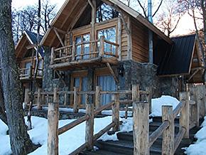 スキー場内にあるコテージ