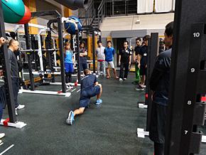 体力トレーニングの陸上実技