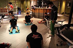 ナショナルチームとのフィジカルトレーニング