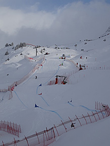 Montafonのスノーボードクロスコース