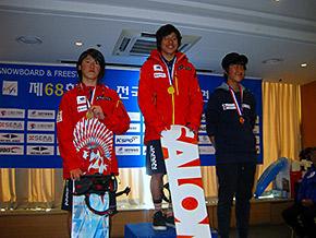男子優勝の今井選手と2位安藤選手