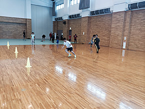 ナショナルトレーニングセンターに指定されている「たいらぐら」でのトレーニング