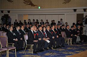 顕彰式には多くのご来賓、関係者の方々がお見えになった